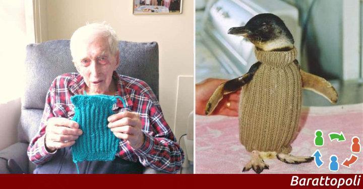A 109 anni proteggere i pinguini...
