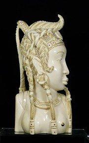 Grande busto avorio africano circa... 1