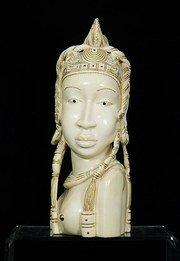 Grande busto avorio africano circa... 2