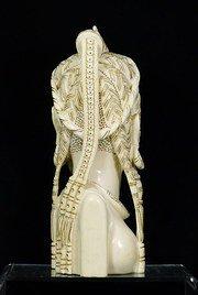 Grande busto avorio africano circa... 3