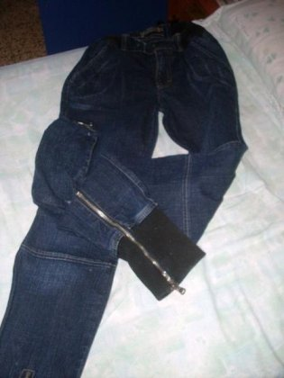 Jeans skinny con polsino e cerniera 1