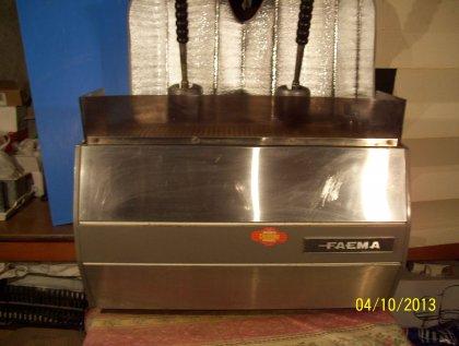 antica macchina da caffè faema... 1