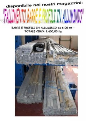stock barre e profili in alluminio