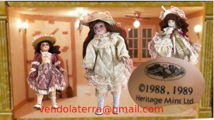 Dispongo di 3 bambole in porcellana...